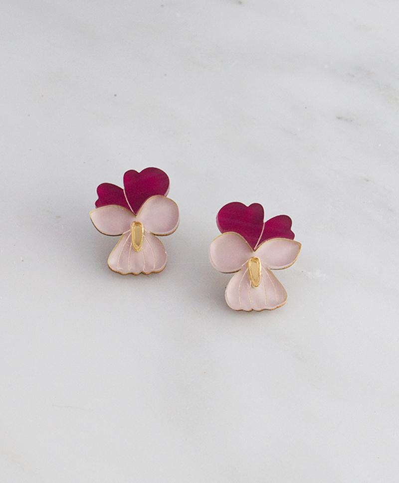 цветы-серьги