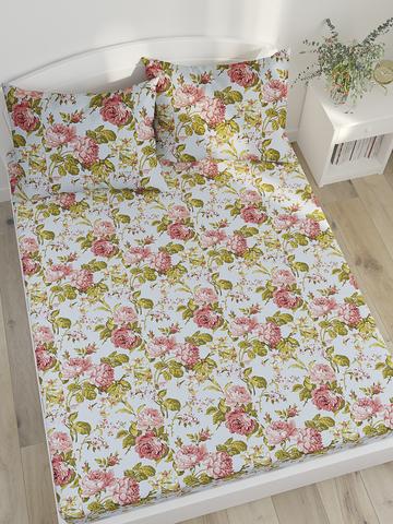 Простынь на резинке  -Прохоровская роза (новая)- натяжная 90х200х26 см 1,5-спальная