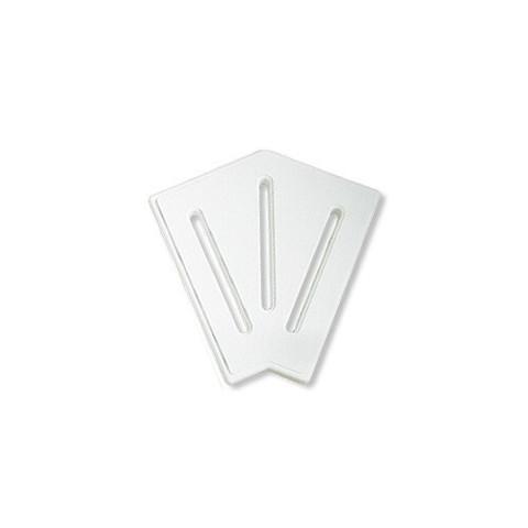 Угловой элемент AquaViva DK-20-2 Matt для переливной решетки 45° 190/25 мм (белый) / 22742