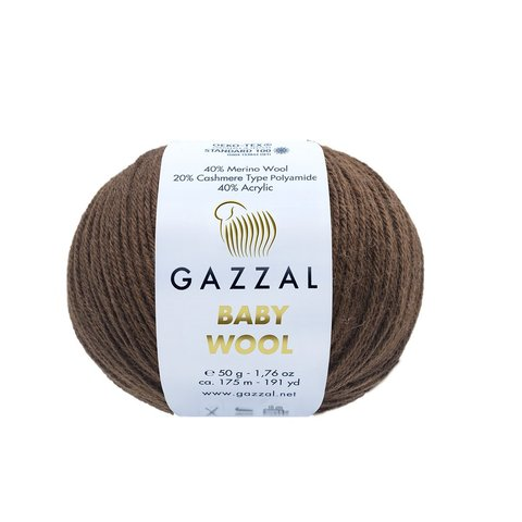 Пряжа Gazzal Baby Wool 807 шоколад