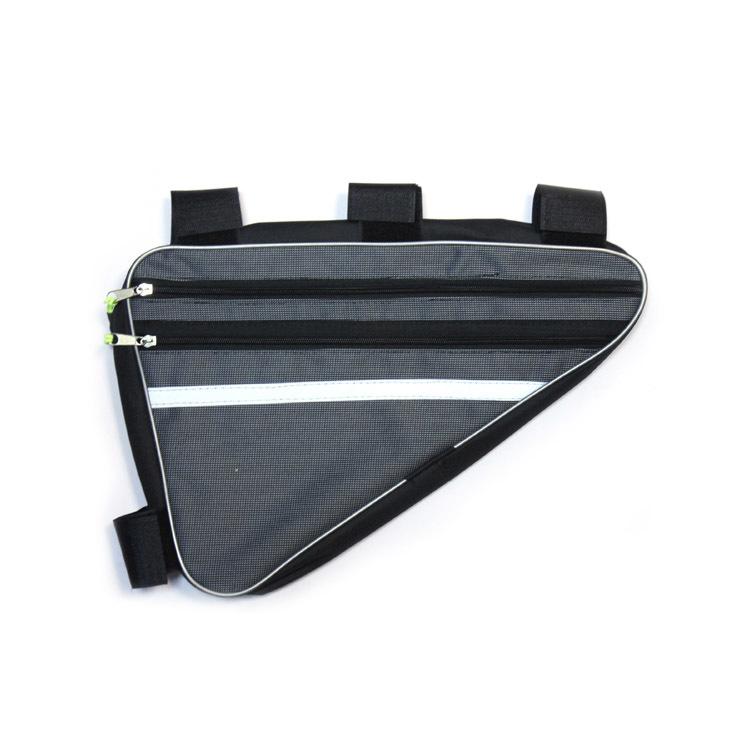 Велосумка Alpine подрамная большая, (соло пвх, черный) Светоотражающие полосы по обеим сторонам сумки, крепление на липучки в трех точках. Внутренний карабин для ключей.