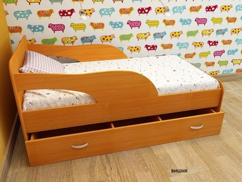 Кровать Максимка вишня