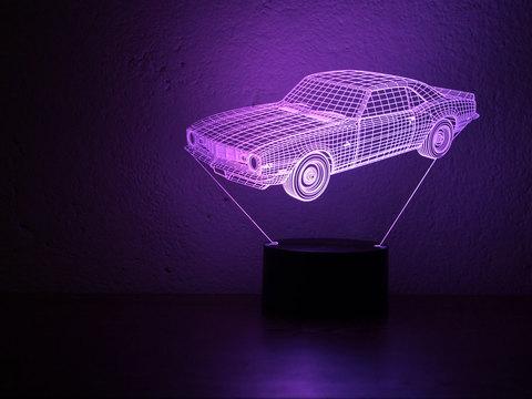 3D лампа Шевроле