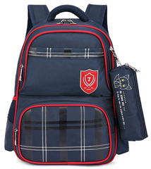 Рюкзак школьный Qix 3908 Синий + Пенал