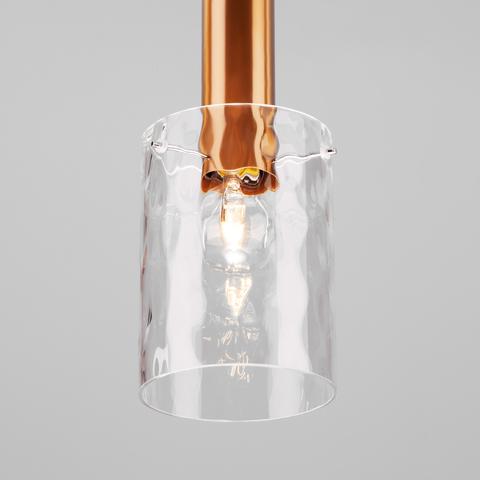 Подвесной светильник 50177/1 черный/бронза