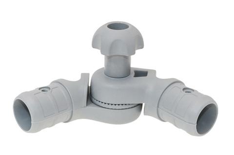 Наклонно-соединительный узел для труб левый Tl257, Ø 22/29 мм, серый