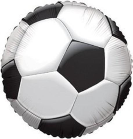 F Круг Футбольный мяч (черный), 18''/46 см, 1 шт.