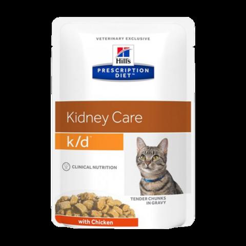 Hill's Prescription Diet K/D Консервы для кошек при заболеваниях почек (пауч)