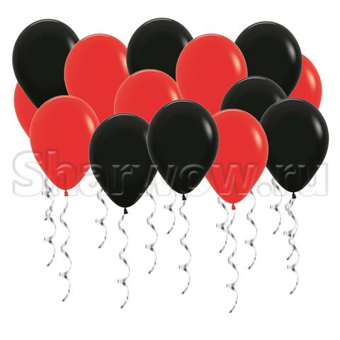 Воздушные шары под потолок Красный и черный