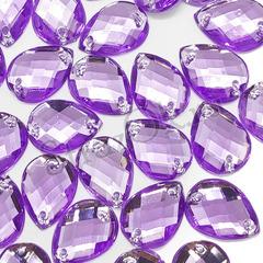Купите фиолетовые стразы пришивные акрил Drope оптом