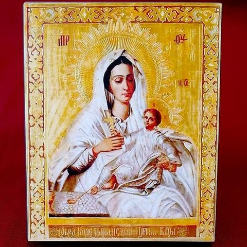 Икона Божией Матери Козельщанская на дереве на левкасе мастерская Иконный Дом