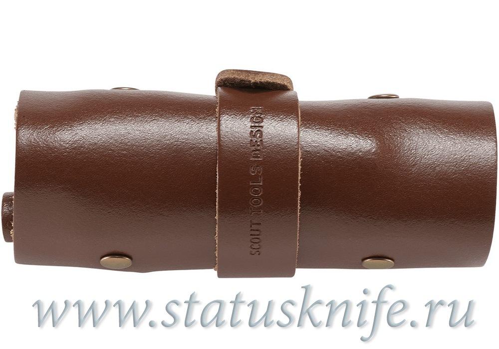 Набор бит CRKT 9911 Hex Bit Driver Leather Tool Roll - фотография