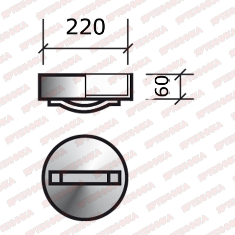 Заглушка ревизии термо d220 ТиС