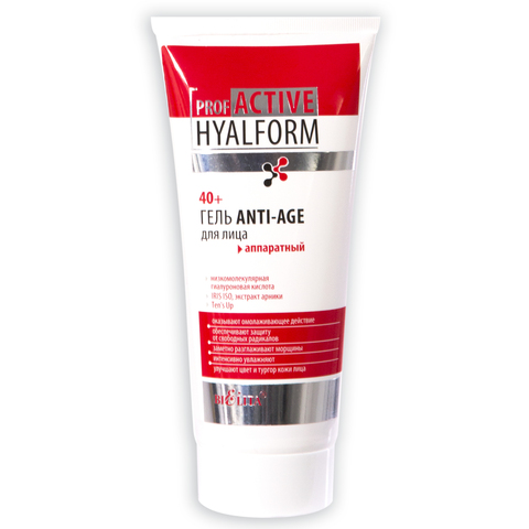 Гель Anti-Age для лица аппаратный 40+ , 200 мл ( Prof Active Hyalform )