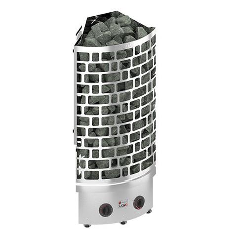 Электрическая печь SAWO ARIES ARI3-90NB-CNR-P (9 кВт, встроенный пульт, угловая, нержавейка)