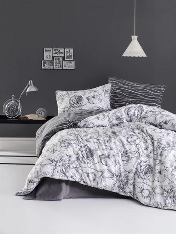 Комплект постельного белья DO&CO FLANNEL Евро (50х70/2) ROZEN цвет серый