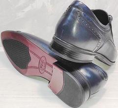 Весенние мужские туфли под костюм Ikoc 3805-4 Ash Blue Leather.