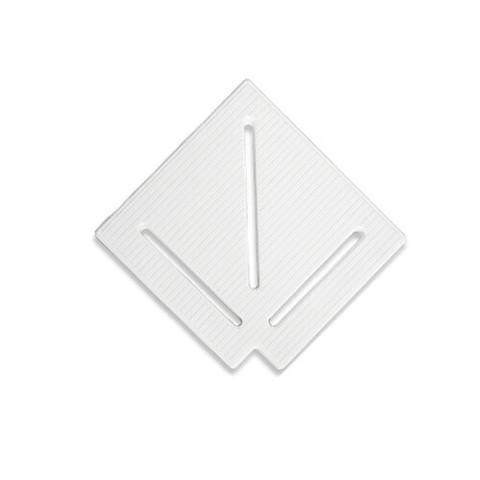 Угловой элемент AquaViva KK-20-1 Classic для переливной решетки 90° 195/25 мм (белый) / 22758