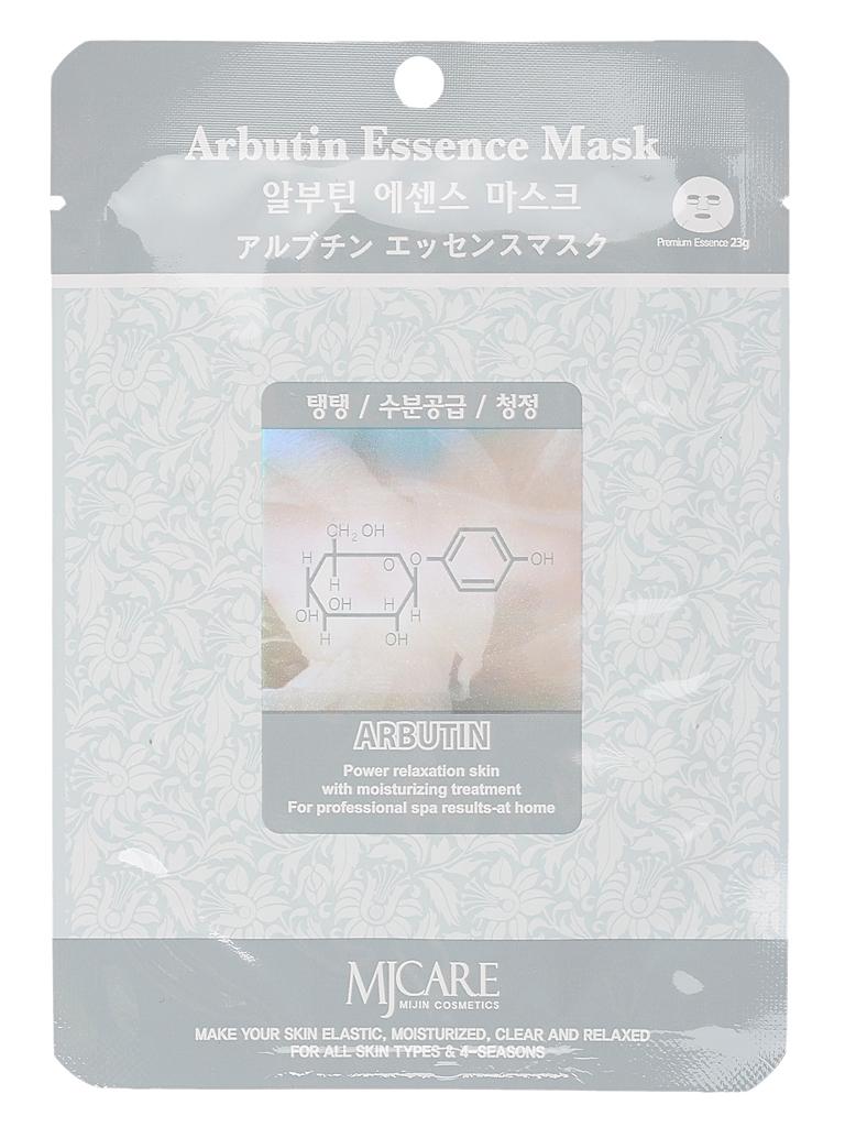 MIJIN Маска тканевая для лица арбутин Arbutin Essence Mask МЖ3.jpg