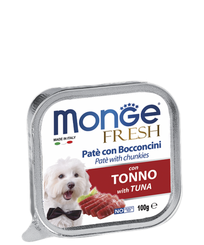 Monge Dog Fresh All Breeds Pate e Bocconcini con Tonno With Tuna