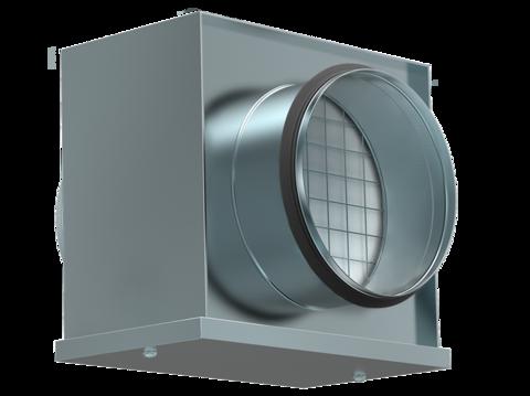 Воздушный фильтр-бокс Shuft FBCr 400 с фильтром для круглых воздуховодов