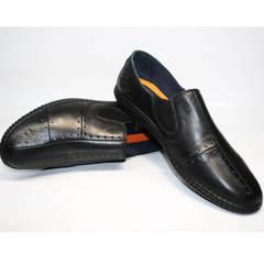Кроссовки слипоны мужские Luciano Bellini 107607 Black.
