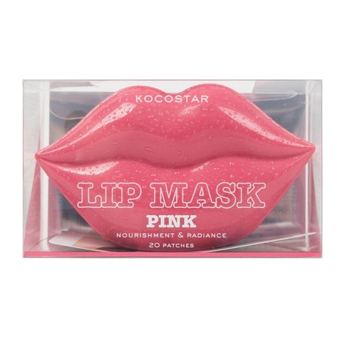 Kocostar Гидрогелевые патчи для губ Персик 20 шт розовые / Lip Mask Pink  (Peach Flavor)