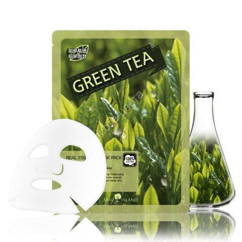 Маска для лица тканевая May Island с экстрактом зелёного чая 25 гр