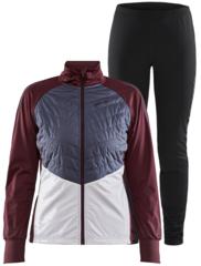 Элитный лыжный костюм Craft Storm Balance  бордовый/серый женский