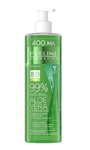 EVELINE 99% NATURAL Универсальный алоэ-гель для лица и тела 3в1 400мл