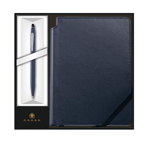 Набор подарочный Cross  (AT0622-121/2M) Click Midnight Blue шариковая ручка + записная книжка