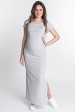 Платье для беременных 09625 серый