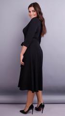 Кора. Вечірня сукня плюс сайз. Чорний.