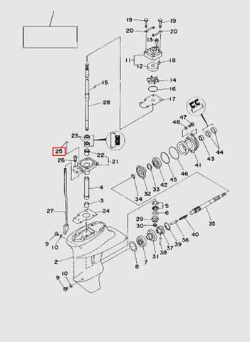 Кольцо уплотнительное  для лодочного мотора T15, OTH 9,9 SEA-PRO (16-25)