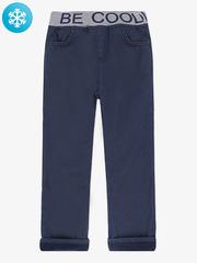 BWB000047 брюки для мальчиков утепленные, темно-синие
