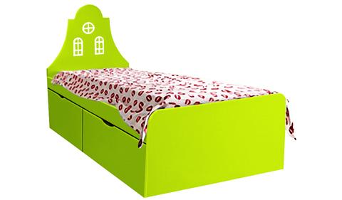 Детская кровать салатового цвета