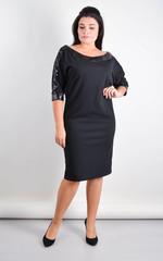 Клео. Вечернее платье больших размеров. Черный+черный.