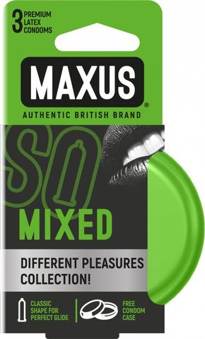 Презервативы в железном кейсе MAXUS Mixed - 3 шт.