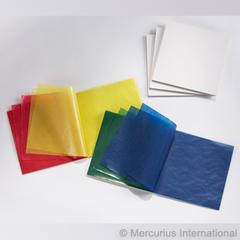 Бумага витражная 16х16см рождественские цвета 500 листов, (Mercurius)