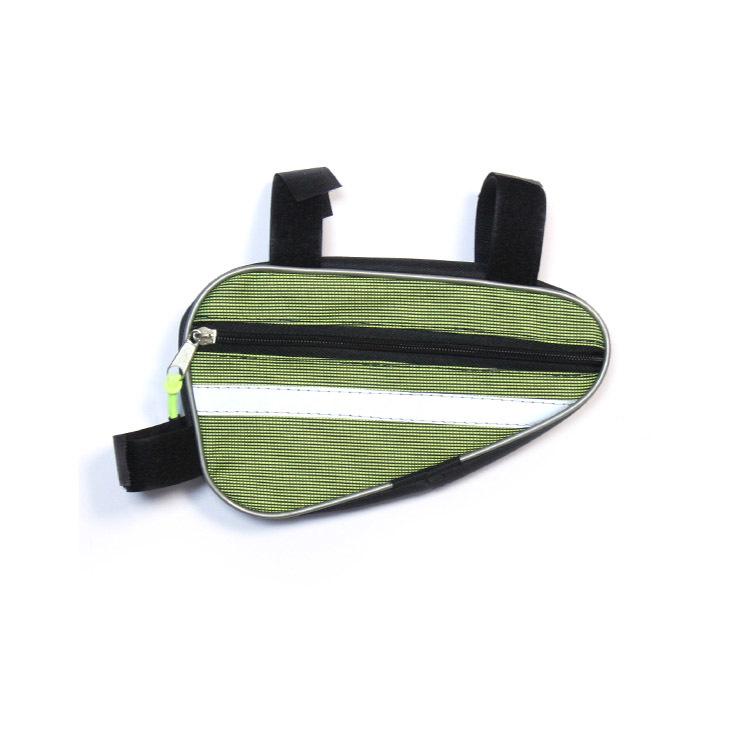 Велосумка Alpine подрамная малая, (соло пвх, оранжевый) Светоотражающие полосы по обеим сторонам сумки, крепление на липучки в трех точках. Внутренний карабин для ключей.