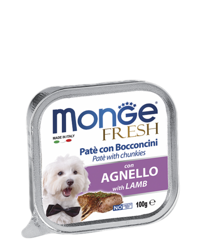 Monge Dog Fresh All Breeds Pate e Bocconcini con Agnello With Lamb