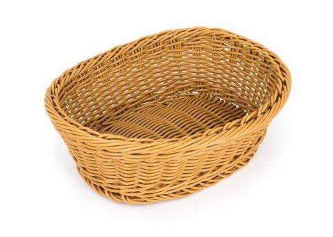 Корзина плетеная пластиковая овальная для хлеба 255*205 мм