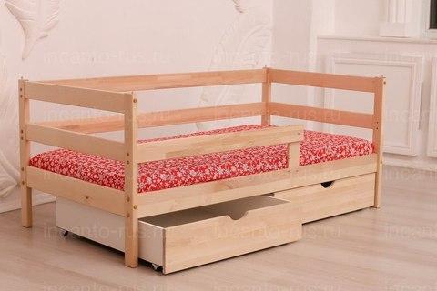 Подростковая кровать Софа Incanto «Dream Home» , цвет натуральный с ящиками