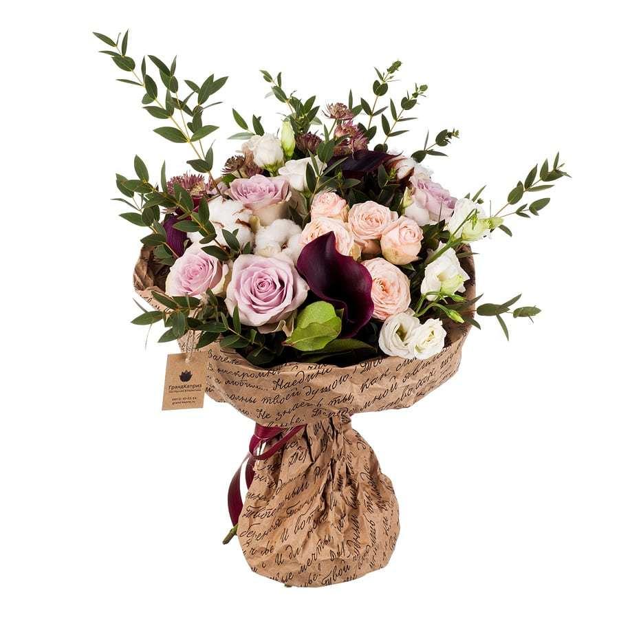 Букет из роз и калл - Цветочная мелодия