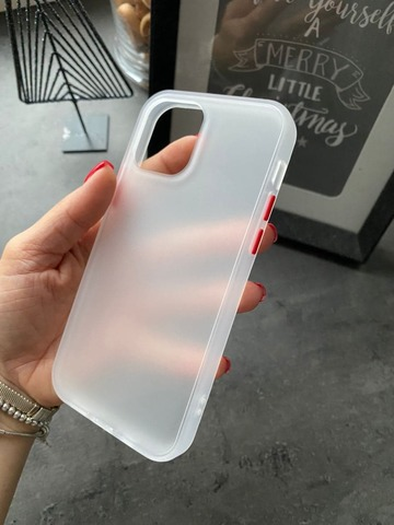 Чехол iPhone 12 /5,4''/ Gingle series /transparent red/
