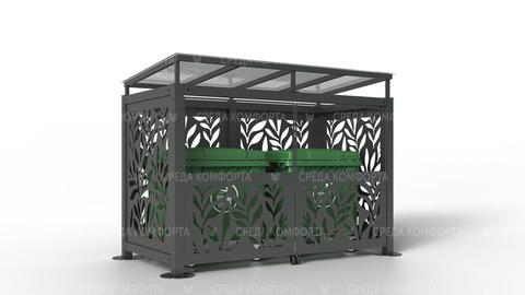 Навес для мусорных контейнеров NVS0035