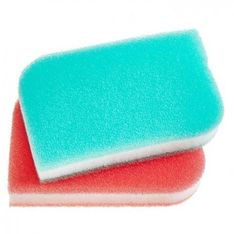 Скруббер-мочалка для мытья посуды набор ( 11,5 х 7,5 х 2,5) SB TRIPLE MULTI SCRUBBER 2PC  2шт