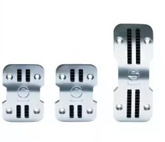 Накладки на педали Sparco PEDALS 77 хром для МКПП