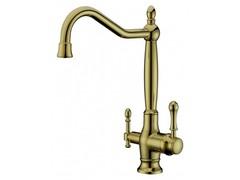 Смеситель для кухни  с переключателем на питьевую воду  Aksy Bagno  TL-18050-bronze