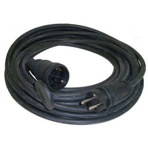 Удлинитель-шнур силовой каучук УШз16-101 IP44 штепс. гнездо с/з, 30м КГ 3х1,5 TDM